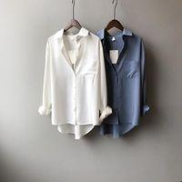 Sifafos Frühling frauen sommer bluse koreanische langarm frauen tops und blusen vintage shirts blusas roupa feminina frauen