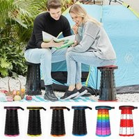 Fishing Accessories Retractable Stool Folding Chiar Outdoor Portable Chair Camping Convenient Foldable Plastic