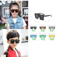 Fashion Large Square Frame Sunglasses Kids Ultraviolet-proof Sun Glasses For Baby Girls Boys Summer Stylish Children Accessories Sports Trav
