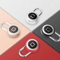 الذكية بصمة القفل آمن USB شحن قابلة للماء قفل الباب قفل المضادة للسرقة الأمن قفل الأمتعة القضية القفل