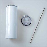 20 oz 원뿔 빈 평면 바닥 주전자 홈 야외 휴대용 커피 컵 뚜껑 및 플라스틱 밀짚 찻잔 도매