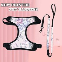 Pet Dog Harness And Leash Set Fashion New Boho Print Cat Collar Canvas Adjustable Small s Puppy Supplies For A0528