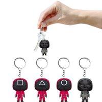 DHL Stock Squid Game Keychain Favores Soldier Spopular Series Todavía faltan su mini muñeca 3D Figurine Llavero Anillo Mochila Coche Colgante FY3245 BOURT