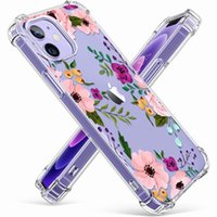 Colorful Flower Cute Floral Phone Cases Clear Shockproof Soft Silicon For iphone 11 12 13 Pro Max XR X XS 7 8 Plus Transparent Relief Cover