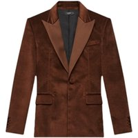 Amir i Fashion show the same 21fw amiry small fragrant wind lamp core velvet suit cowboy jacket for men and women C5LY