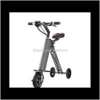 킥 스쿠터 3 휠 접이식 스쿠터 휴대용 이동성 접이식 전기 자전거 리튬 배터리 자전거 0jm11 zh7qv