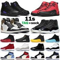 Реальное углеродное волокно 11 11s Space Waw 45 мужчин женщин баскетбольные туфли высочайшего качества 25-й годовщины спортивные кроссовки с коробкой ry9h
