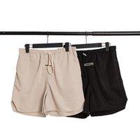 Erkek Tasarımcı Şort Yüksek Sokak İpli Pantolon Elastik Bel Açık Fitness Spor Kısa Pantolon Rahat Nefes Sportwear S-XL 6 çeşit renk
