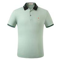 2021 패션 셔츠 망 폴로 말 레이블 셔츠 남자 하이 스트리트 자수 가터 작은 인쇄 브랜드 최고 품질 면화 의류 티셔츠 M-3XL