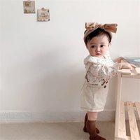 حللا 2021 ربيع الخريف الطفل وزرة بنين بنات الدينيم أطفال بذلة الكورية أزياء الأطفال السراويل 2 قطع 1445 b3