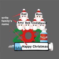 2021 DIY Weihnachtsdekorationen Ornamente Beschreiber Santa Claus Anhänger Home Party Geschenke für Familienfreunde