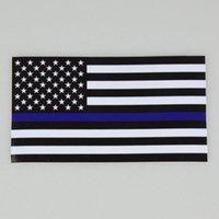 얇은 파란 라인 미국 경찰 플래그 자동차 장식 스티커 플래그 트럭 컴퓨터 데칼 스티커 11.43 * 6.35cm 자동차 데칼 창