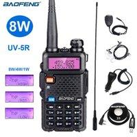 BAOFENG UV 5R Güçlü 8 W Walkie Talkie VHF UHF Çift Bant İki Yönlü Radyo Tarayıcı UV5R Jambon İstasyonu Amatör Aksesuar