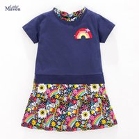 Girl's Dresses Frocks For Girls 2021 Summer Baby Girl Clothes Toddler Cotton Rainbow Sequined Vestiods Casual Dress Kids 2-7 Years