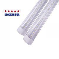 V 모양의 통합 LED 튜브 4FT 5FT 6FT 8 피트 7 피트 72 인치 Bubs 144W T8 튜브 조명 더블 사이드 조명 25 팩 36W 72W 100W 18W 주식 USALight