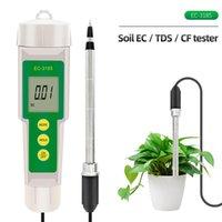 Medidor de solo 3 em 1 EC / TDS / CF Tester EC-3185 Analisador impermeável para Jardim Estufa Cultivo Agricultura Laboratório Ph Meters