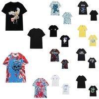 T-shirt Femme Summer Peace Paix Palmier Lettre Logo Impression Ronde Cou Sleeve Sleeve Street Style Dames Couple Coup de pied Rock Crâne Haute Qualité 0101
