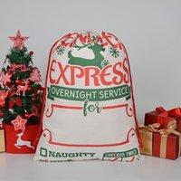Weihnachtsgeschenkbeutel Große Bio-Schwere Canvasbag Santa Sack Kordelzug Taschen mit Rentiers Santaclaus Sackbags Seaway GWF9067