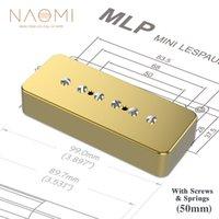 NAOMI P90 SOAP BAR Pickup Hals 50mm 6.9K Widerstand Goldene Metallabdeckung Keramik Magnet 6pcs Einstellbare Schrauben für LP Gitarre