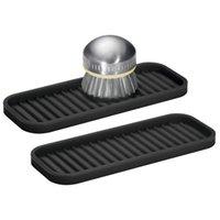 Silicone Storage Tray Kitchen Bathroom Sink Soap Silicone Drain Pad Tableware Hair Curler Heat Insulation Pad