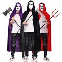 Halloween Tod Mantel Erwachsene Kinder Zauberer Hexe Halloween Kostüm Ball Kostüm
