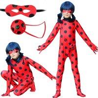 Halloween Crianças Anime Cosplay Traje Preto Meninos Gato Festa de Aniversário Peruca Redgirl Spandex Suits Fase Performance Bodysuit Dress Q0910