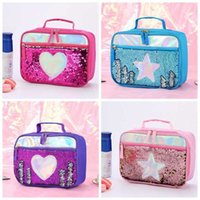 Sequined Children's Aluminum Foil Insulated Lunch Bag Outdoor Picnic Lunch Box Food Storage Tote Bag Convenient And Practical