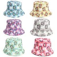 Niña sol sombrero casco mujer mariposa impreso visera savantes de sol pescador topee encantador cubo 6 colores
