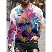 T-shirt Visual Impact T-shirt T-shirt Visual Impact T-shirt T-shirt Visual Streetwear Ronde Cou Haute Qualité Haute Qualité Graphique Optique Illusion Plus Taille Daily Tops
