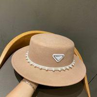 Designer cap d famiglia francese piccolo fragrante vento autunno lettera inverno lettera britannica stile piatto top cappello pratico