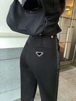 Женщины Track Black Slim Style для Lady Casual Pant Truse Trose и шорты днища Вершина Высокая талия Спортивные каприки с буквами Леопарда напечатаны