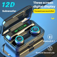 TWS 5.1 Bluetooth Earphone Wireless Headphone 9D Stereo Sports Waterproof With Charging Box Microphone Earbuds Headsets