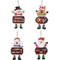 عيد الميلاد الحلي ورقة مجلس الباب نافذة شنقا قلادة الترحيب ميلاد سعيد لوحات عيد الميلاد decortaions سانتا كلوز ثلج GWA9361