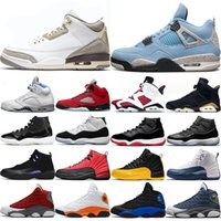 University Blue 1s Men Women Basketball Shoes Bred Black Inf...