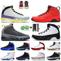 Nike Air Jordan 9 9s Stock x Jordan Retro 9 Jumpman Gym Kırmızı 9 Racer Mavi Erkek Basketbol Ayakkabı JOHNNY Kilroy Desert Berry Erkek Eğitmenler Sneakers boyutu 13