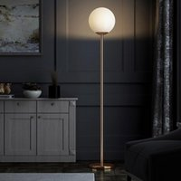 Nordic Modern Simple Gold And Glass Floor Lamp Bedroom LED Lamps Fashion Light Room Fixtures Home Loft Decor