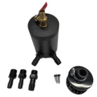Racing Durable Baffled Oaller Cooler Cooler Capt Can Tank con filtro de aire Reemplazo de vehículos Separador de Aire-Oil Separador de Aros Aceite de Gas Aceite Recuperar Pot