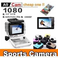 Для SJ4000 A9 Стиль 2-дюймовый ЖК-экран Мини Спортивная камера 1080P Full HD Action Cameras 30M Водонепроницаемые видеокамеры Шлем Спорт DV