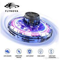 FlyNova Fidget Spinner 2020 New LED Rotating Flying Toy UFO 360° Flying Spinner Kids Birthday Gifts Funny Decompression Fingertip Gyro 06