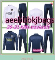 21 22 Boca Juniors kids soccer tracksuit survetement 2021 DE ROSSI GAGO junior child football jacket training suit jogging set chandal