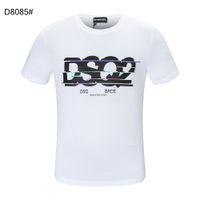 DSQ PHANTOM TURTLE SS Mens Designer T shirt Italian fashion Tshirts Summer DSQ Pattern T-shirt Male High Quality 100% Cotton Tops 60266