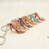Обувь для вечеринки Обувь брелок кошельки кулон сумки автомобили обуви кольца держатель цепи ключевые кольца для подарков женские акриловые на высоком каблуке DHB8577