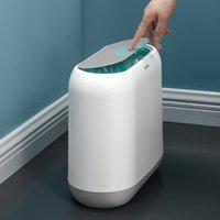 Lixeiras de lixo de lixo com um toque para abrir, empurrar lata, sala de estar banheiro, cozinha cesta de papel higiênico # 1