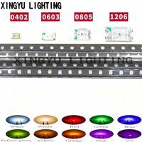 가벼운 구슬 무료 배 100pcs 0402 0603 0805 1206 SMD LED 빨간색 노란색 녹색 흰색 파란색 방출 다이오드 지우기 PCB 회로