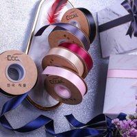 Yards lot 25mm Gift Box Accessories Ribbon Cake Glitter Silver Grosgrain Satin Ribbons Packaging DIY Handmade Materials Jewelry Pouches, Bag