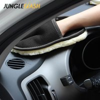 Car Washing Automotive Cleaning Brush Cleaner Wool Soft Gloves Motorcycle Washer Care Glove