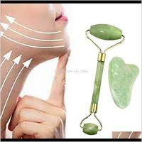 Natural Jade Roller Guashá Skin Skin Set Stone Firming Antiando Antielf Puffy Olhy Neck Anti Wrinkle 4ldt0 A0U8x
