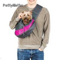 prettybetter تنفس الكلب الناقل في الهواء الطلق السفر حقيبة يد الحقيبة شبكة الكتف حقيبة حبال الحيوانات الأليفة الرحلات حمل القطط القطط