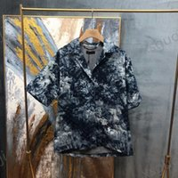 Louis Vuitton LV T-shirt Дизайнерские напечатанные комплекты одежды Корейский тонкий с длинным рукавом социальные платья мужская рубашка партии