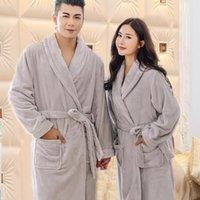 Factoryknaywinter Flannel Kimono Robe Nightwear femminile Amanti intimi Amanti Lingerie Casual Accappatoio Abito Coral Fleece NightGo